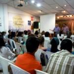Church meeting with Spanish interpretation