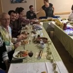 Our community group Christmas Dinner, part of Dartford Community Church (our  home church)