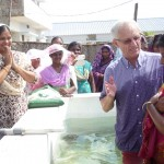 Baptising some new believers in South Asia