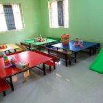 A classroom ready for the 'Tender Heart' children to use in the new AMEN 'Hope Centre' building, INDIA