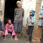 Sharing the gospel with a poor family in MADAGASCAR