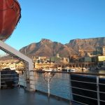 Table Mountain from MV Logos Hope in Cape Town, SOUTH AFRICA