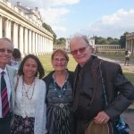 With George and Drena Verwer after an 'Indian' wedding in Old Royal Naval College Chapel, Greenwich