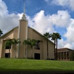 The first church in Lakeland, Florida, where we shared after arriving from the UK…………