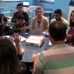 A craft class that Malou organised for HUB (Belgrade Bible School) students in SERBIA