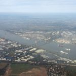 Flying into London City Airport gives us a great view of the Dartford Crossing over the river Thames