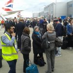 500 of us were evacuated for over 2 hours at London City Airport – virtually everybody missed their flights!