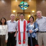 St Andrew's (in Asia): Malou & Gareth with Rev Johnny Chin plus Drs Jane & Nigel Paget from the UK